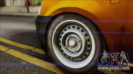 Dacia Logan Pickup 6x6 for GTA San Andreas back left view