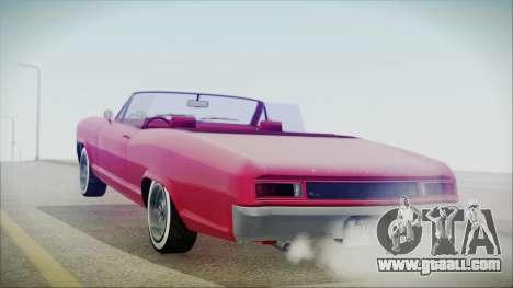 GTA 5 Albany Buccaneer Custom IVF for GTA San Andreas left view
