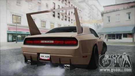 Dodge Challenger Daytona for GTA San Andreas back left view