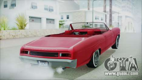 GTA 5 Albany Buccaneer Custom IVF for GTA San Andreas back left view