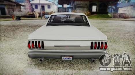Blade Custom for GTA San Andreas back view