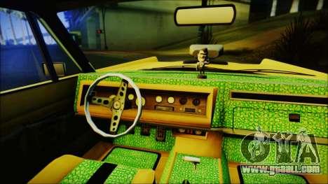 GTA 5 Vapid Chino Hydraulic Version IVF for GTA San Andreas back left view