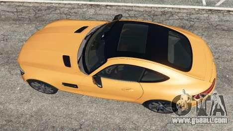 GTA 5 Mercedes-Benz AMG GT 2016 v2.0 back view
