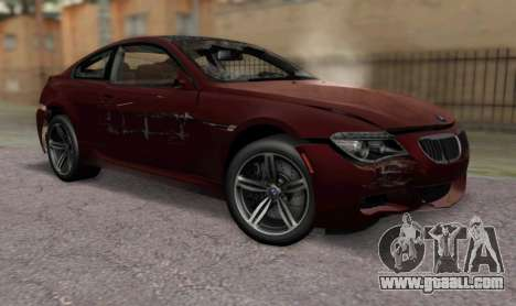 BMW M6 E63 for GTA San Andreas back view