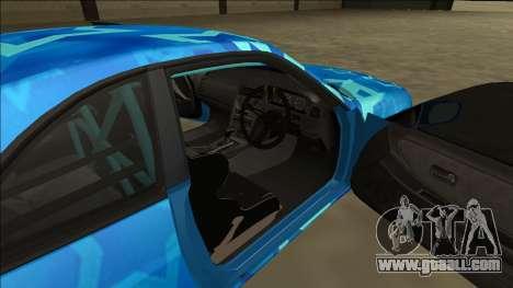 Nissan Skyline R33 Drift Blue Star for GTA San Andreas side view