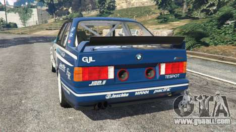 GTA 5 BMW M3 (E30) 1991 [Jeschke] v1.2 rear left side view