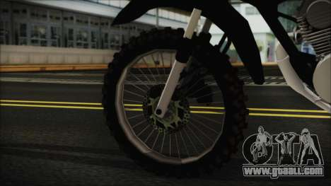 Zanella RX150 Cross for GTA San Andreas back left view