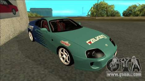 Toyota Supra Falken Drift for GTA San Andreas left view