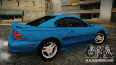Ford Mustang GT 1993 v1.1 for GTA San Andreas back left view