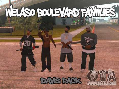 Welaso Boulevard Familis [Davis Pack] for GTA San Andreas