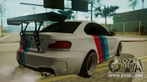 BMW 1M E82 without Sunroof for GTA San Andreas side view