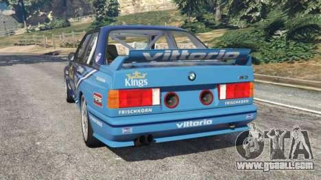GTA 5 BMW M3 (E30) 1991 [Kings] v1.2 rear left side view