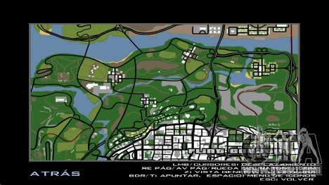 HD Radar Map for GTA San Andreas fifth screenshot