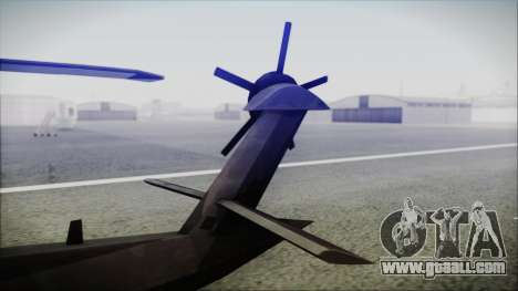 UH-80 Ghost Hawk for GTA San Andreas back left view