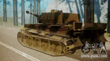 Panzerkampfwagen VI Tiger Ausf. H1 for GTA San Andreas left view