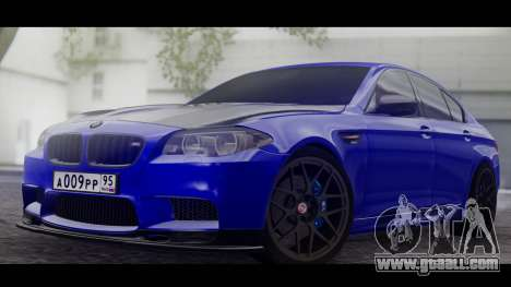 BMW M5 F10 Top Service MSK for GTA San Andreas left view