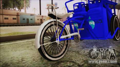 Bici Colgas for GTA San Andreas back left view