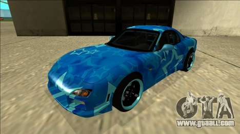 Mazda RX-7 Drift Blue Star for GTA San Andreas