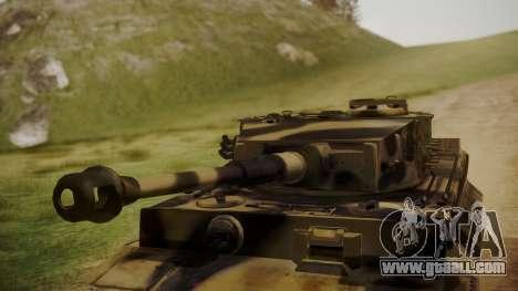 Panzerkampfwagen VI Tiger Ausf. H1 No Interior for GTA San Andreas right view