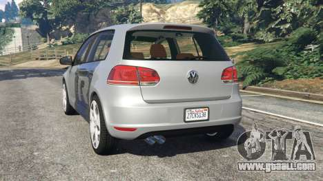 GTA 5 Volkswagen Golf Mk6 v2.0 [WRC Polo] rear left side view