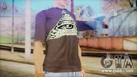 Illuminati T-Shirt for GTA San Andreas third screenshot