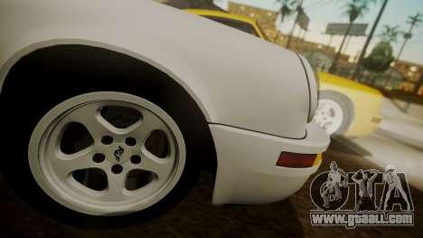 RUF CTR Yellowbird (911) 1987 HQLM for GTA San Andreas back left view