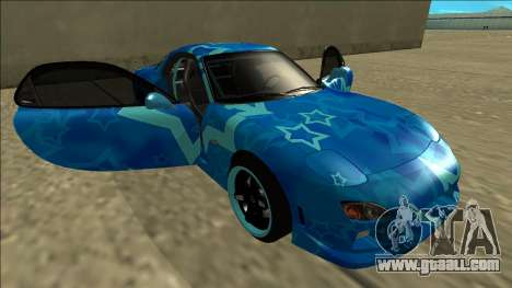 Mazda RX-7 Drift Blue Star for GTA San Andreas bottom view