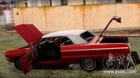 Chevrolet Impala SS 1964 Final for GTA San Andreas wheels