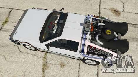 GTA 5 DeLorean DMC-12 Back To The Future back view
