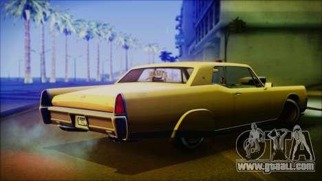 GTA 5 Vapid Chino Hydraulic Version IVF for GTA San Andreas left view