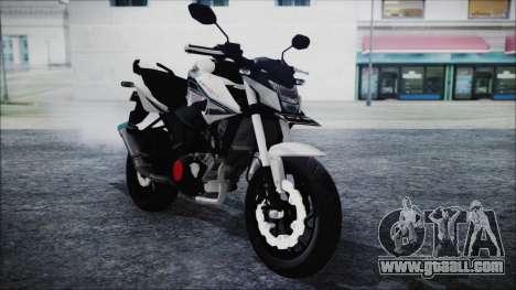 Honda CB150R White for GTA San Andreas right view