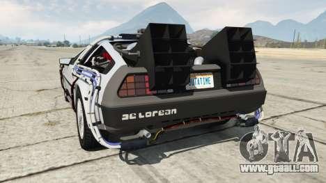 GTA 5 DeLorean DMC-12 Back To The Future rear left side view