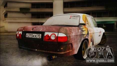 ГАЗ 31105 Drift (Everlasting Summer Edition) for GTA San Andreas back left view
