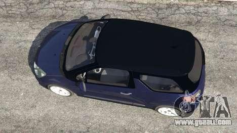 Citroen DS3 2011 for GTA 5