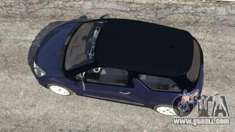 GTA 5 Citroen DS3 2011 back view