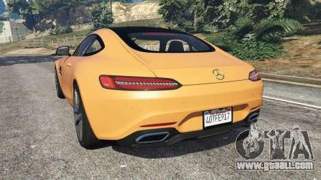 GTA 5 Mercedes-Benz AMG GT 2016 v2.0 rear left side view