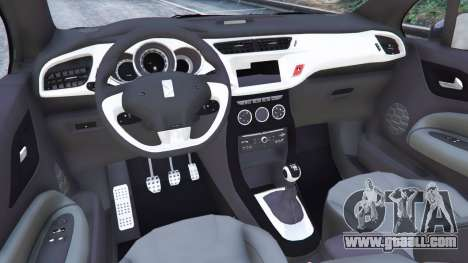 GTA 5 Citroen DS3 2011 rear right side view