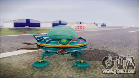 X808 UFO for GTA San Andreas left view