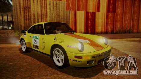 RUF CTR Yellowbird (911) 1987 HQLM for GTA San Andreas bottom view