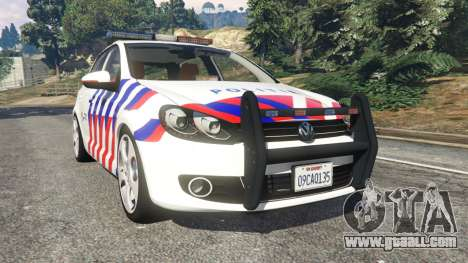 Volkswagen Golf Mk6 Dutch Police for GTA 5