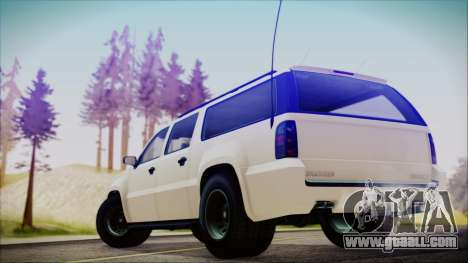 GTA 5 Declasse Granger FIB SUV for GTA San Andreas left view