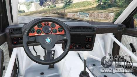 GTA 5 BMW M3 (E30) 1991 [Kings] v1.2 right side view