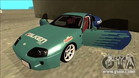 Toyota Supra Falken Drift for GTA San Andreas side view