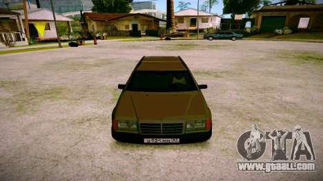 Mercedes-Benz E200 W124 for GTA San Andreas back view
