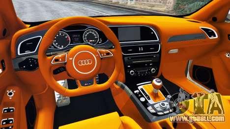 GTA 5 Audi RS4 Avant 2013 rear right side view