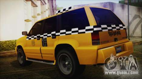 Albany Cavalcade Taxi (Saints Row 4 Style) for GTA San Andreas left view