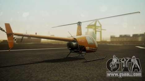 Robinson R-22 de Seguridad Vial for GTA San Andreas left view