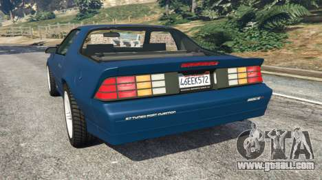 GTA 5 Chevrolet Camaro IROC-Z [Beta 3] rear left side view