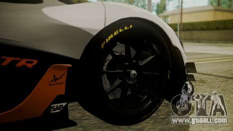 McLaren P1 GTR 2015 for GTA San Andreas back left view