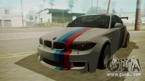BMW 1M E82 without Sunroof for GTA San Andreas inner view